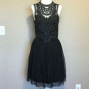 Black Lace Cocktail Dress | Size M
